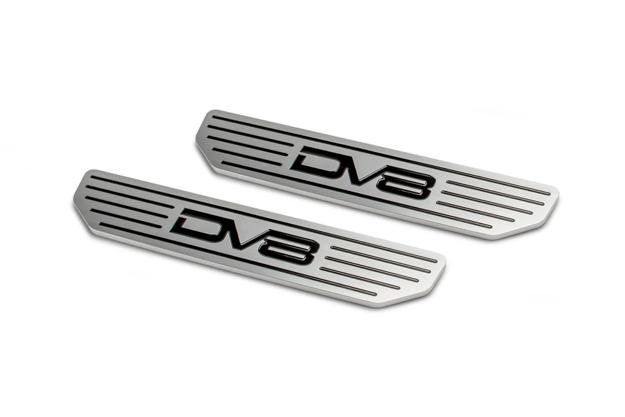 DV8 JEEP 4 DOOR REAR SILL PLATES WITH DV8 LOGO