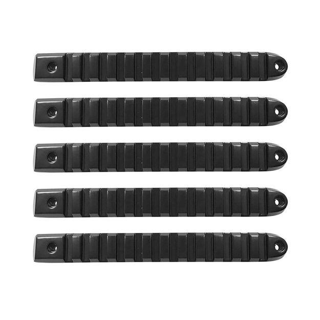 2007-2018 Jeep Black Rail Style Door Handle Inserts Set of 5