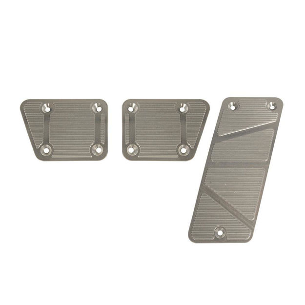 2007-2013 Jeep Billet Pedal Covers, Manual 3 Piece