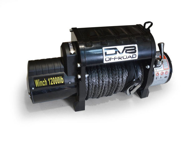DV8 Offroad 12000 pound Winch Black w/ synthetic line