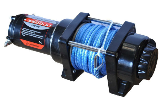 DV8 Offroad 3500 LB winch black w/ synthetic rope