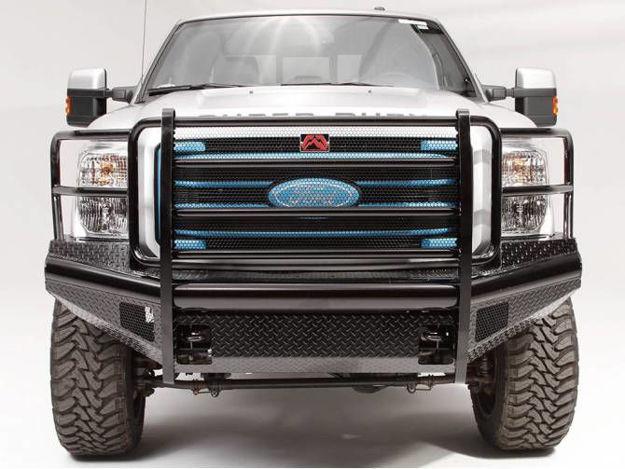 Fab Fours Black Steel Front Bumper (Superduty)