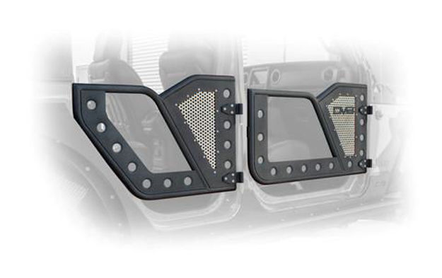 DV8 Jeep Door with Perforated Aluminum Mesh