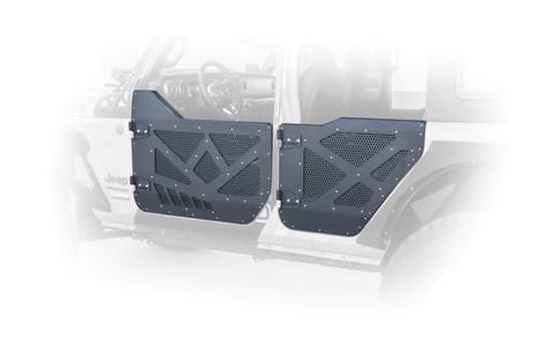 DV8 Jeep Half Doors Aluminum With Perforated Aluminum Screens