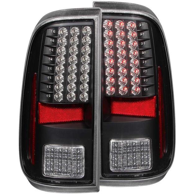 Anzo Black Housing LED Tail Lights (Superduty)