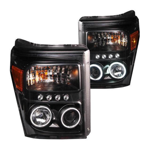 Anzo Black Projector Headlights (Superduty)